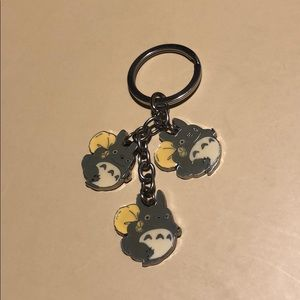 Metal totoro keychain